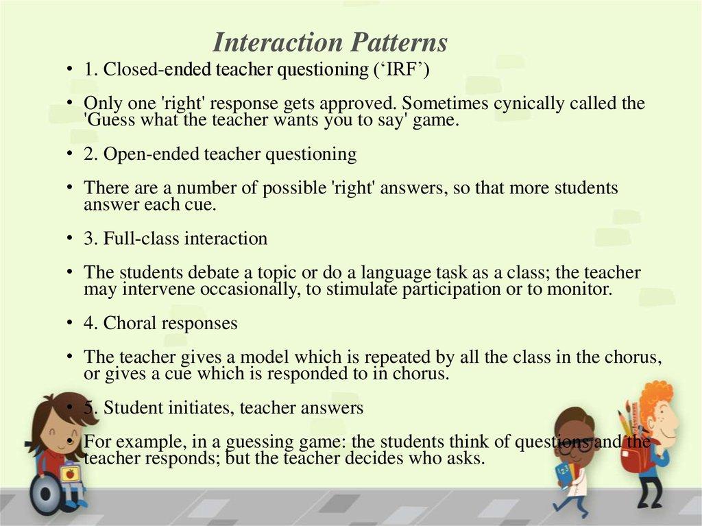Class Organization - online presentation