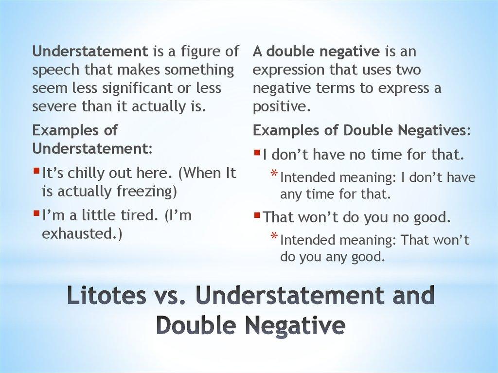 Definition Of Litotes Online Presentation
