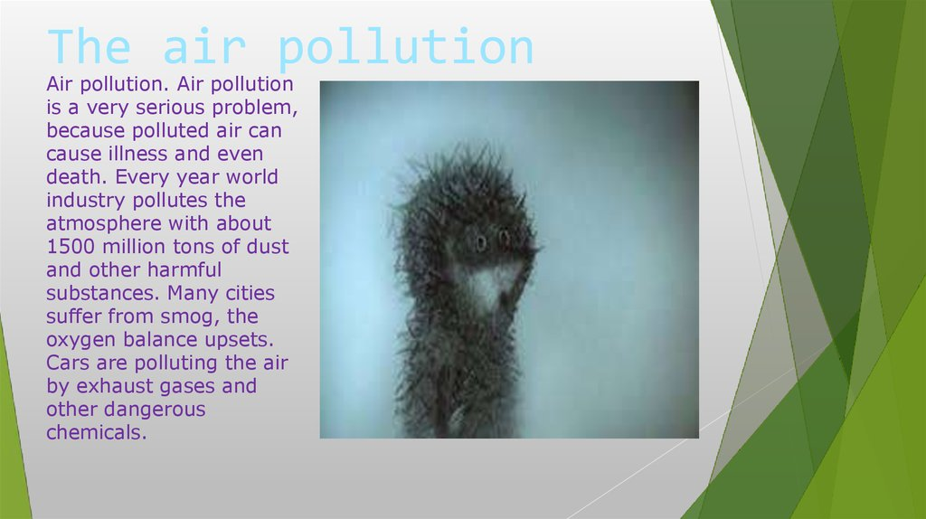 The air pollution