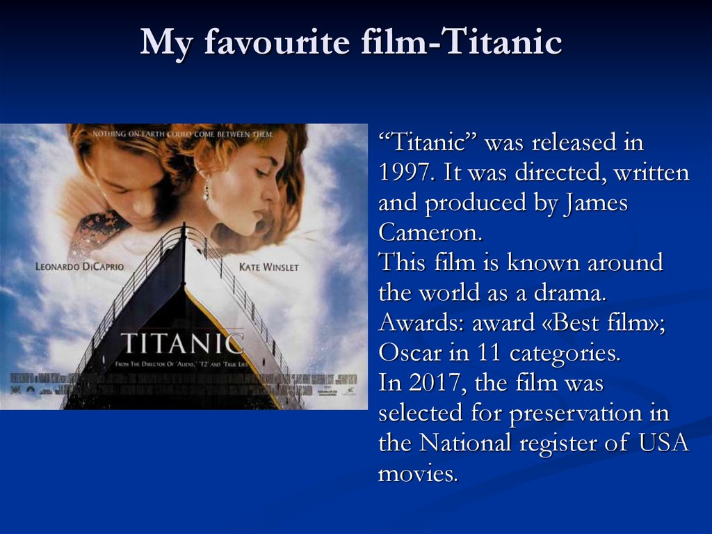 My favourite film-Titanic