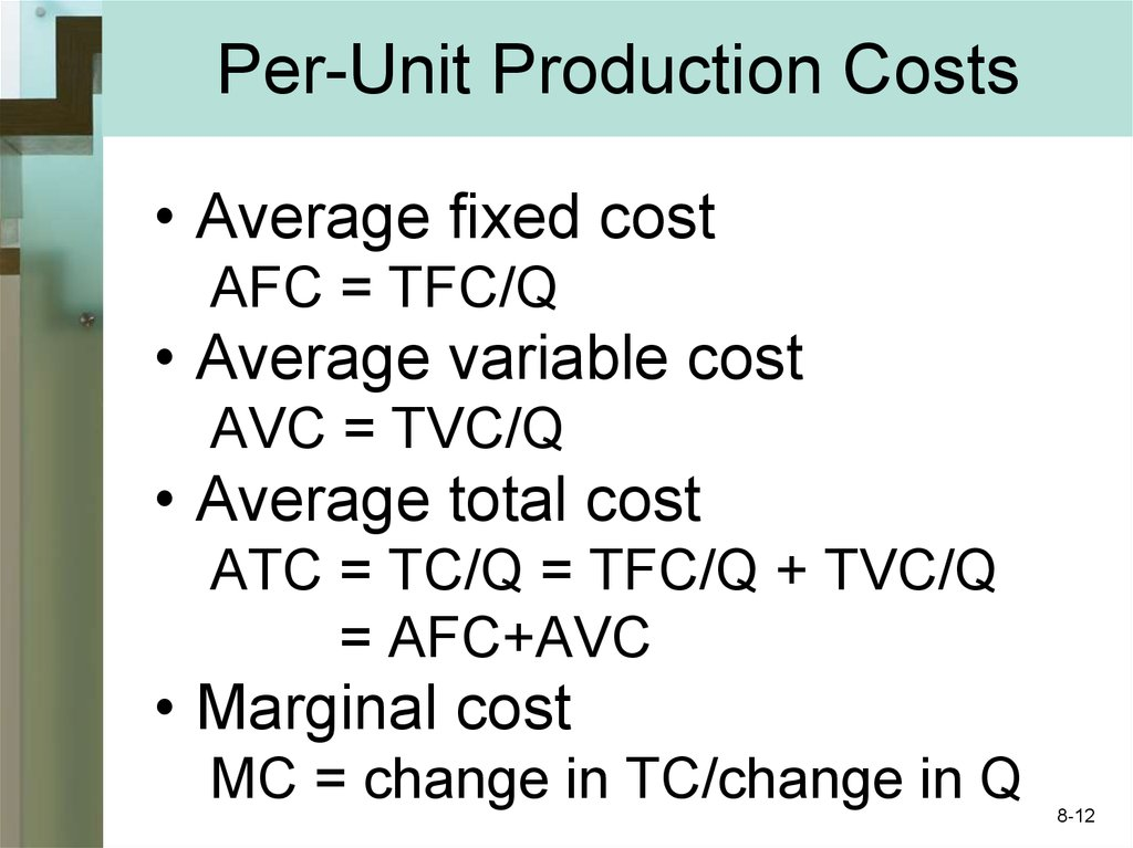 Per-Unit Production Costs
