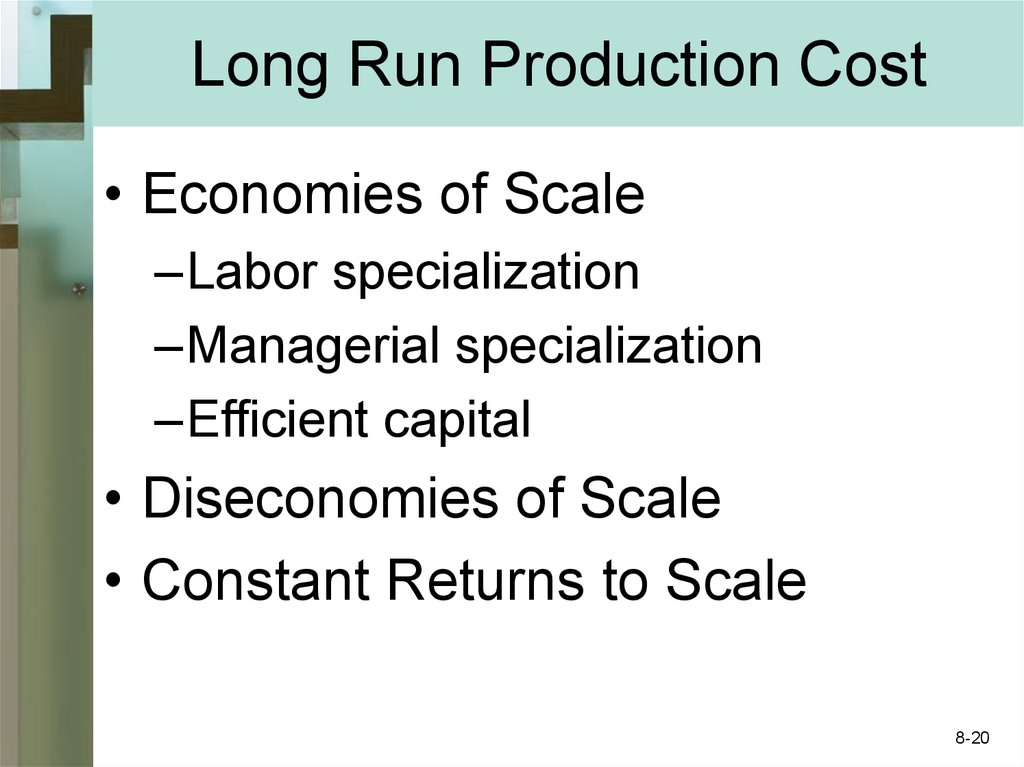 Long Run Production Cost
