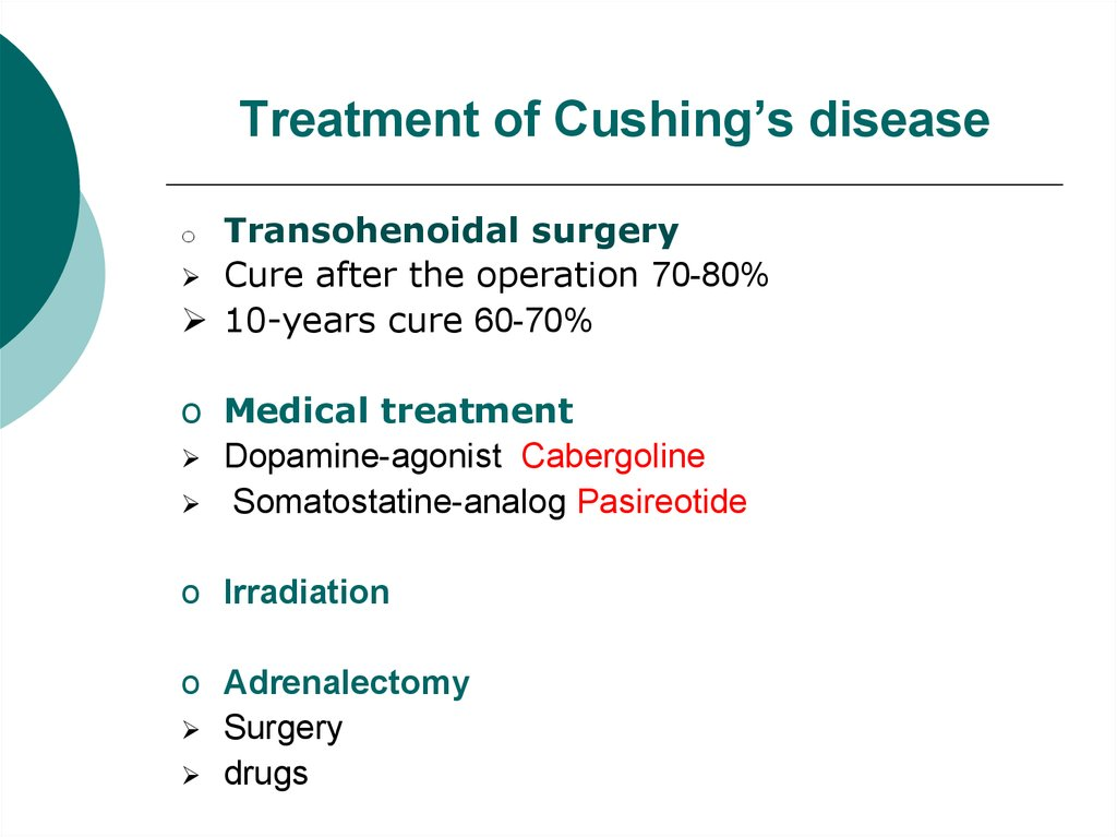 Treatment of Cushing's disease