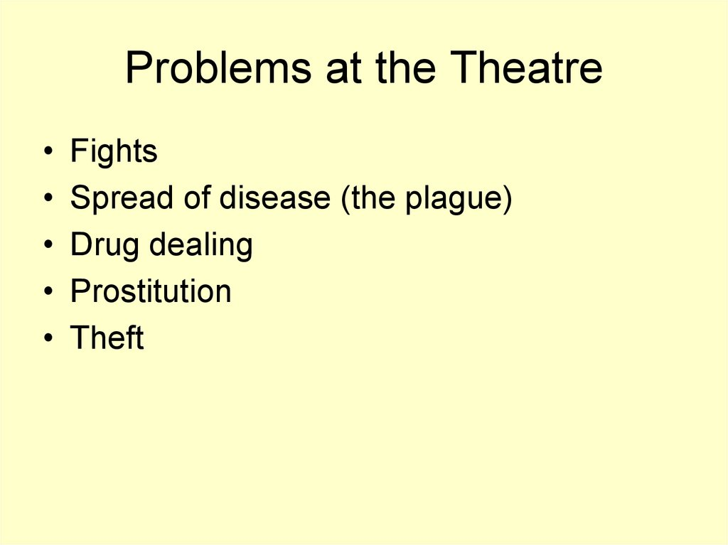 Problems at the Theatre