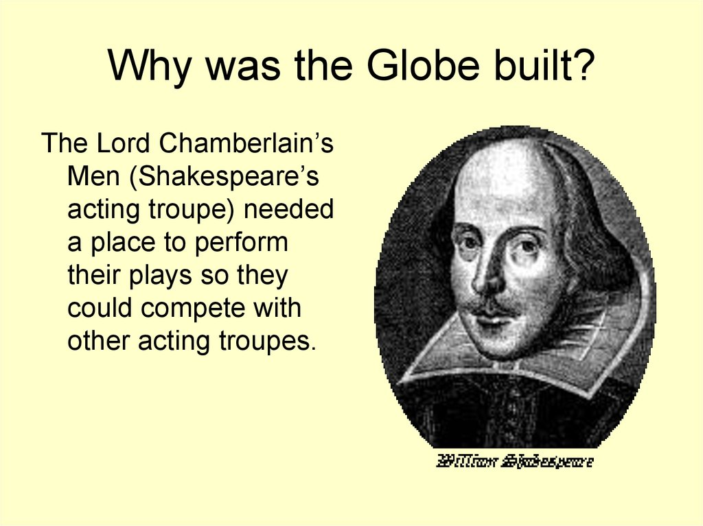 Why was the Globe built?