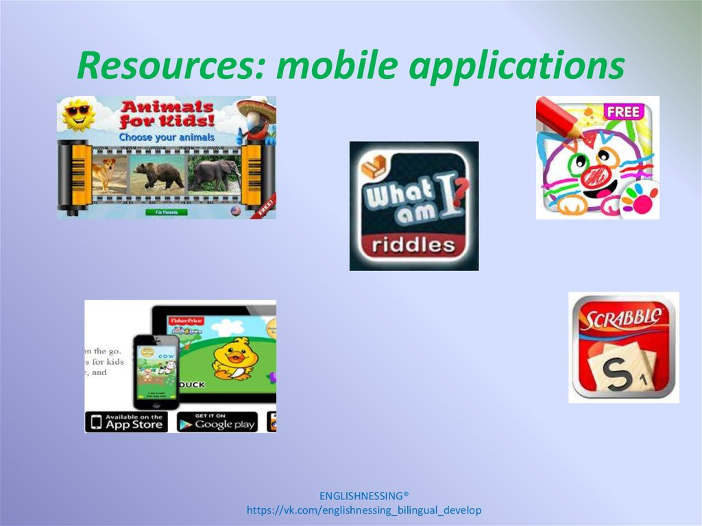 Resources: mobile applications