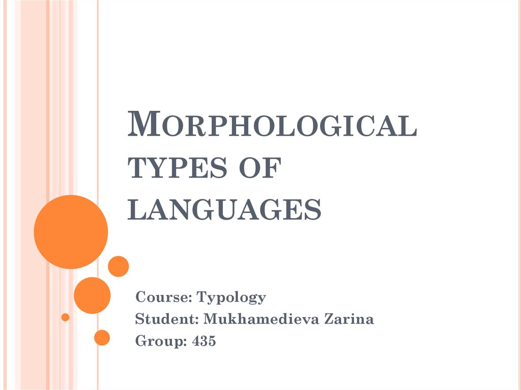 Morphological types of languages