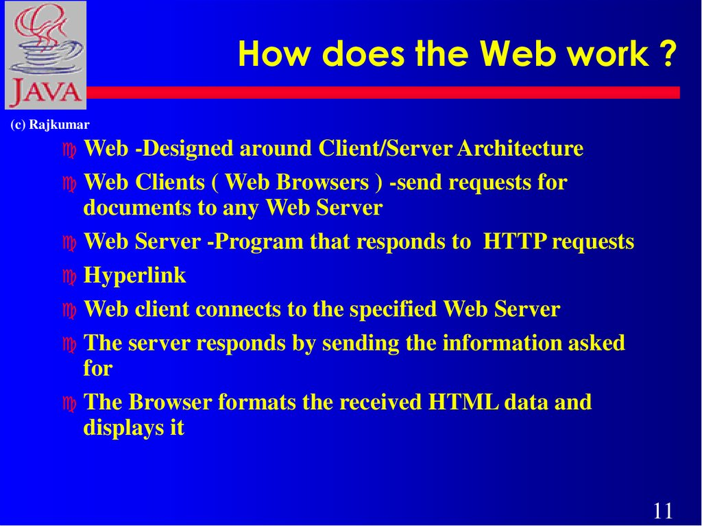 How does the Web work ?