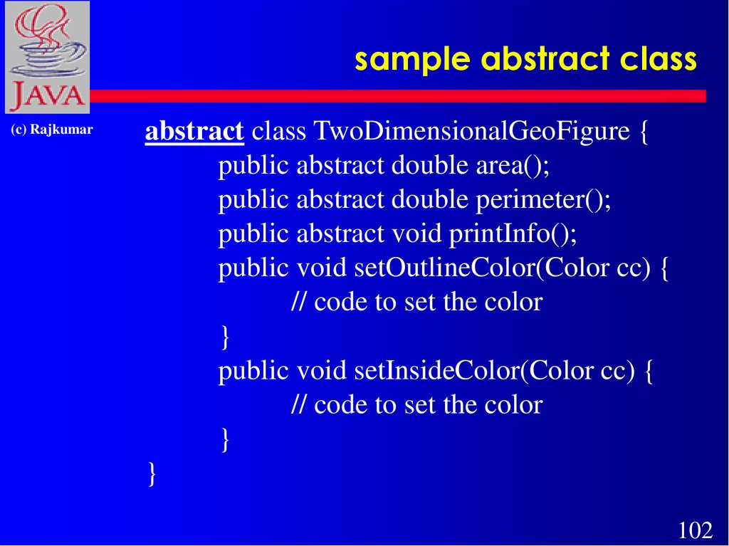 sample abstract class