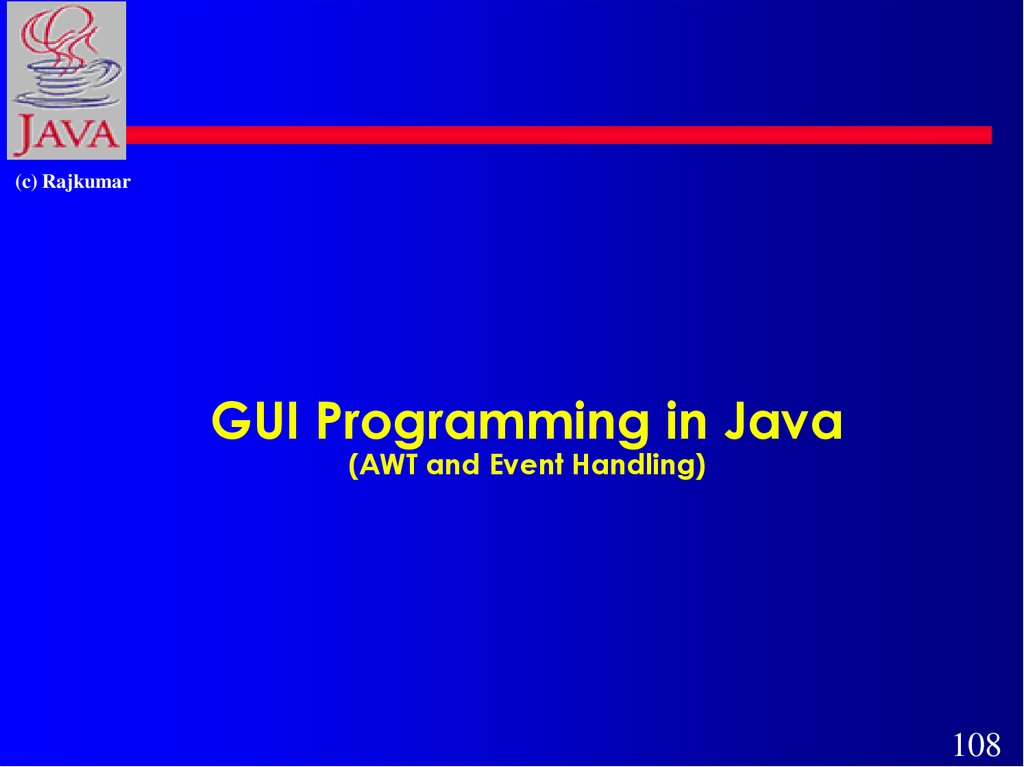 GUI Programming in Java (AWT and Event Handling)