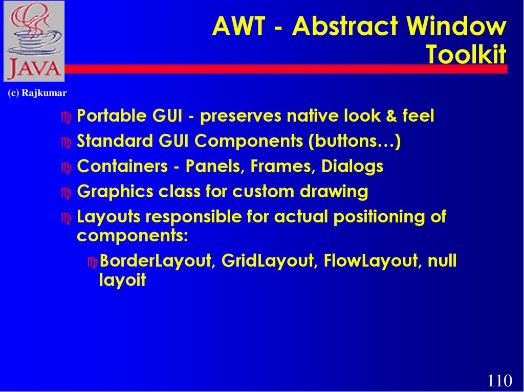 AWT - Abstract Window Toolkit