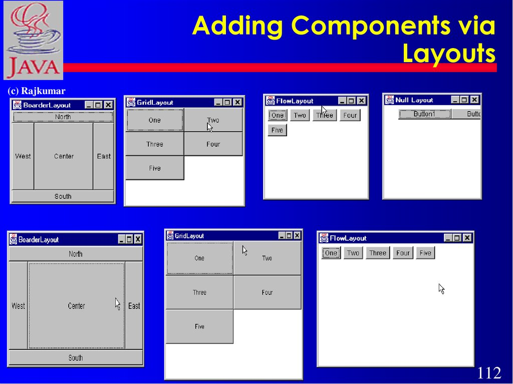 Adding Components via Layouts