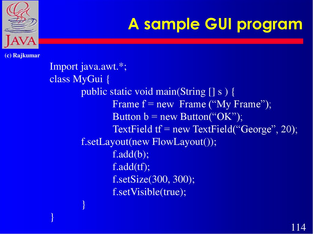 A sample GUI program
