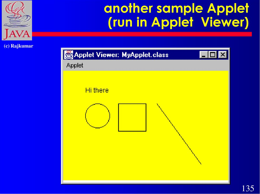 another sample Applet (run in Applet Viewer)
