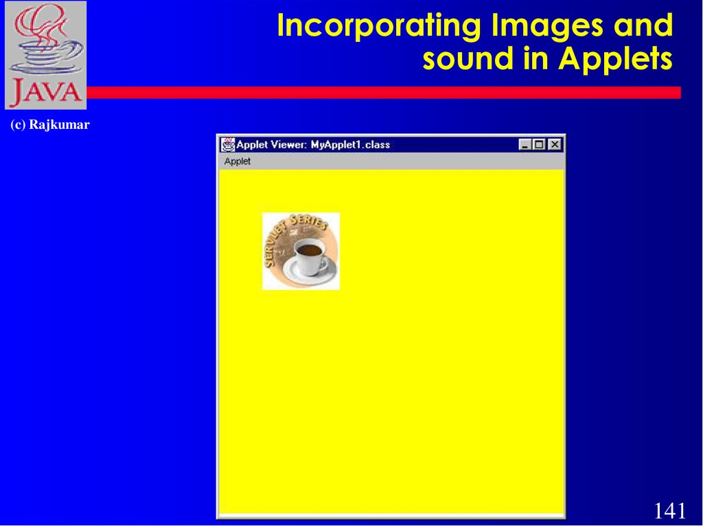 Incorporating Images and sound in Applets