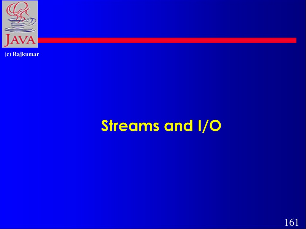 Streams and I/O