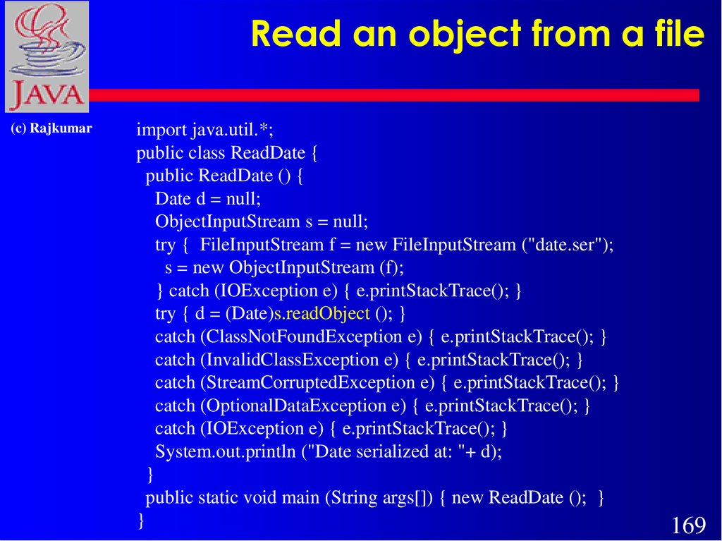 Read an object from a file