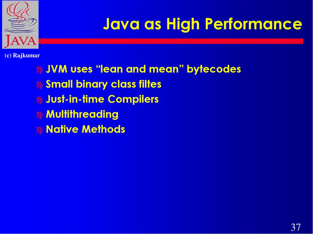 Java as High Performance