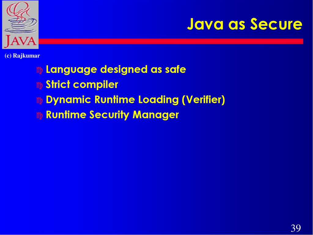 Java as Secure