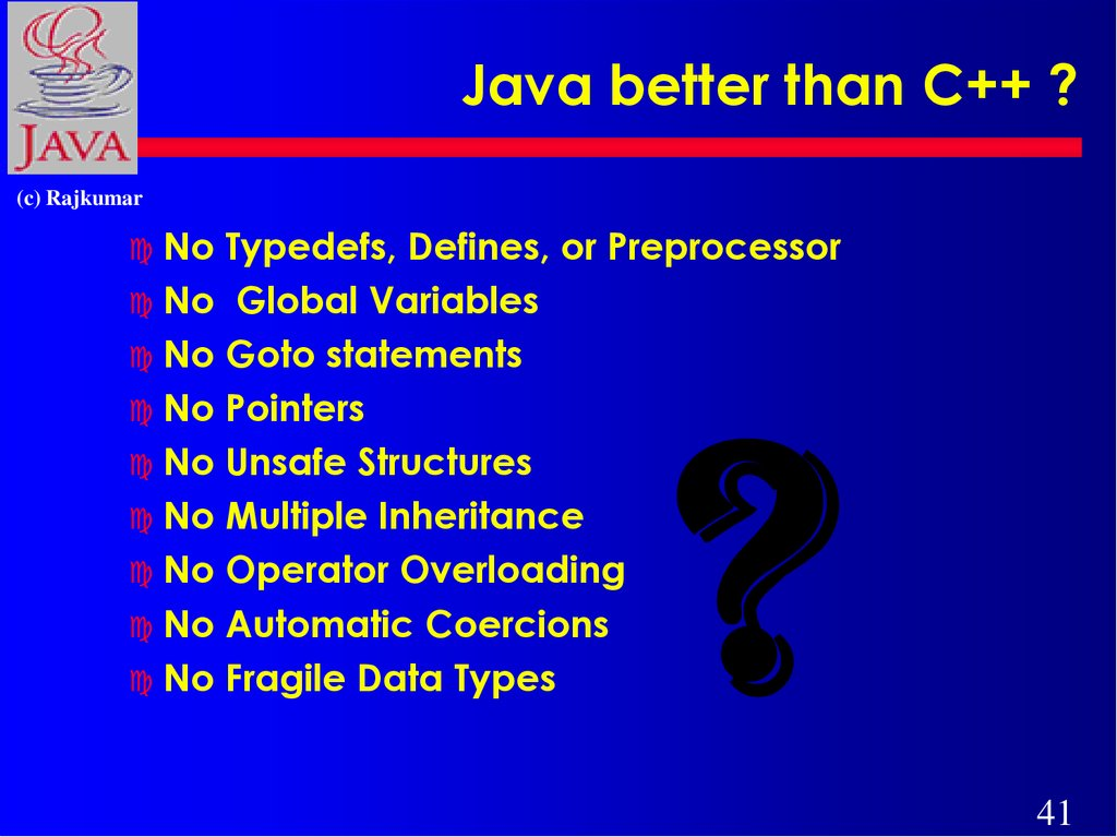 Java better than C++ ?