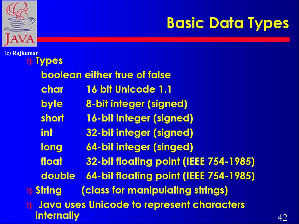Basic Data Types