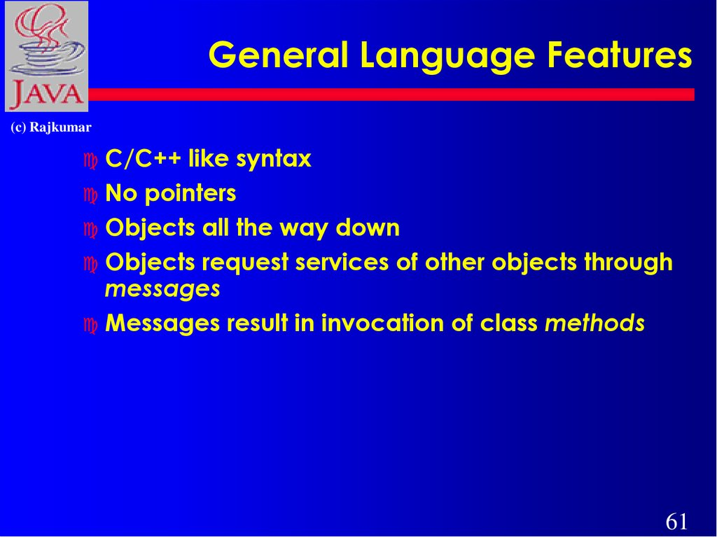 General Language Features