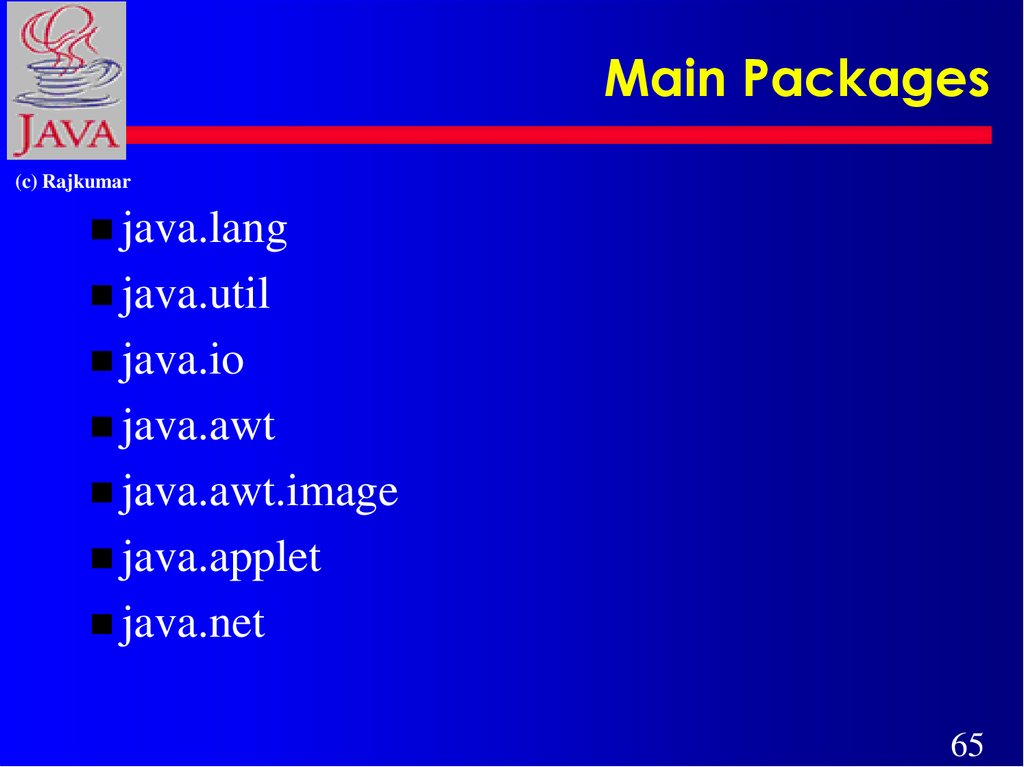 Main Packages