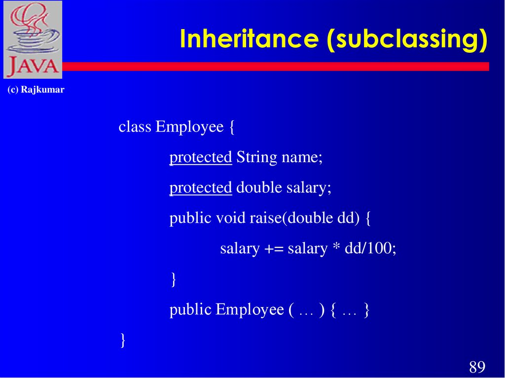 Inheritance (subclassing)