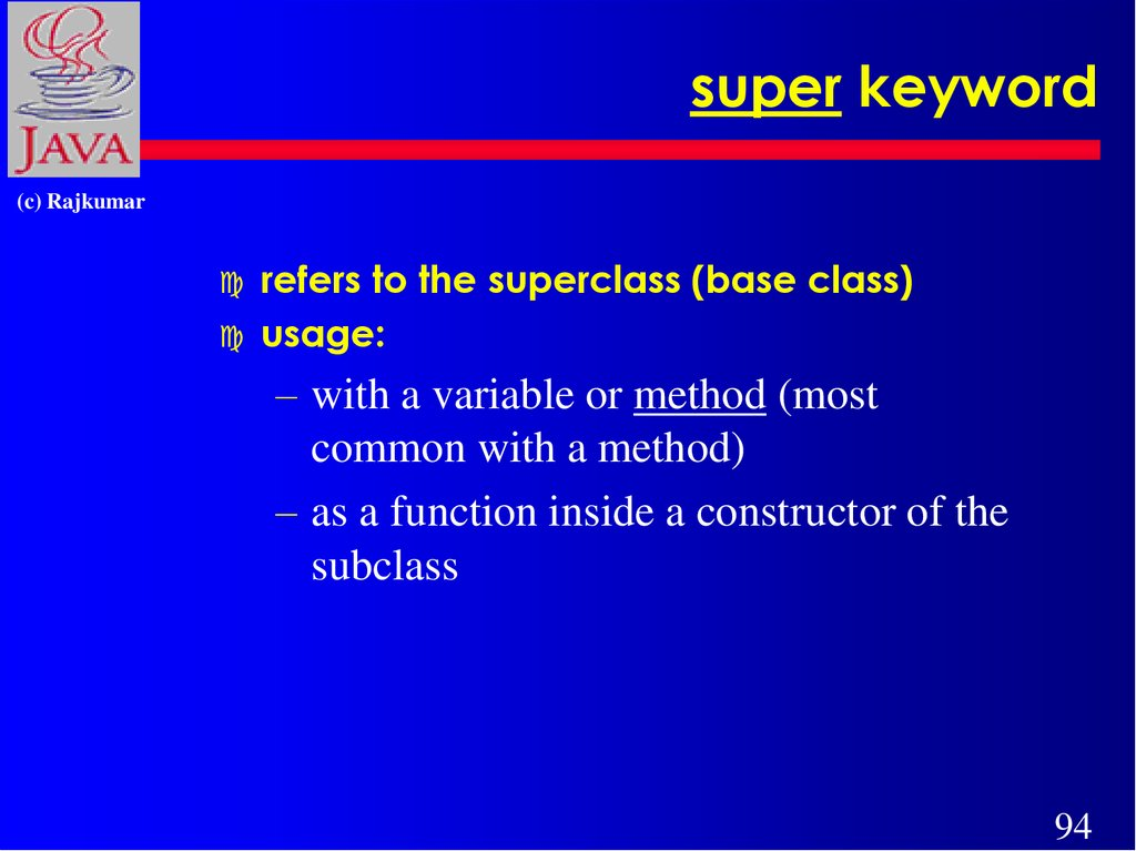 super keyword