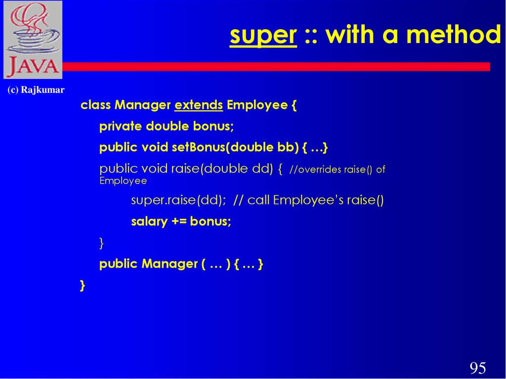 super :: with a method