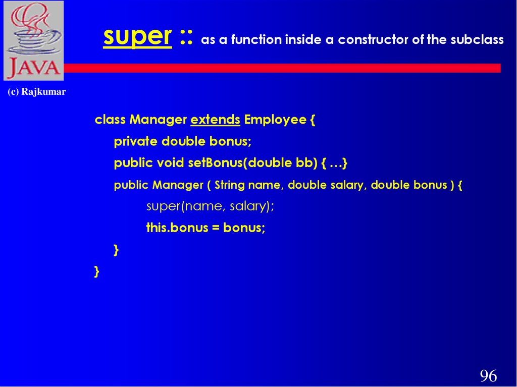 super :: as a function inside a constructor of the subclass