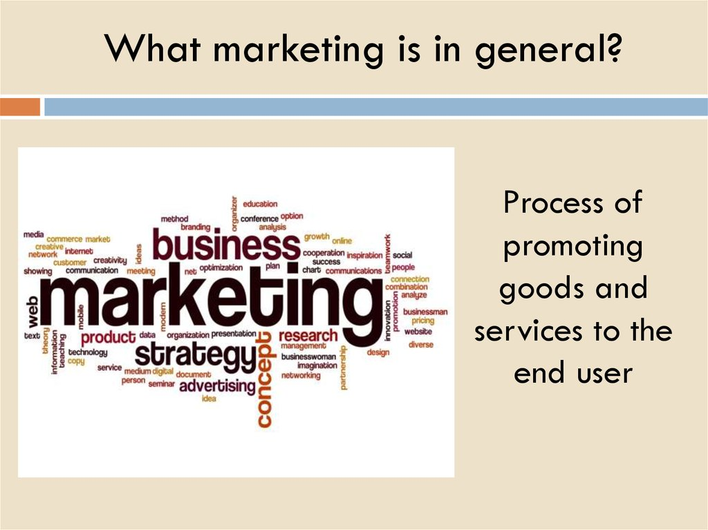 What marketing is in general?