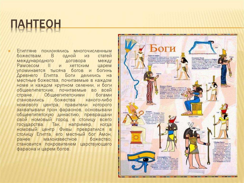 пантеон египетских богов схема с картинками пригожин