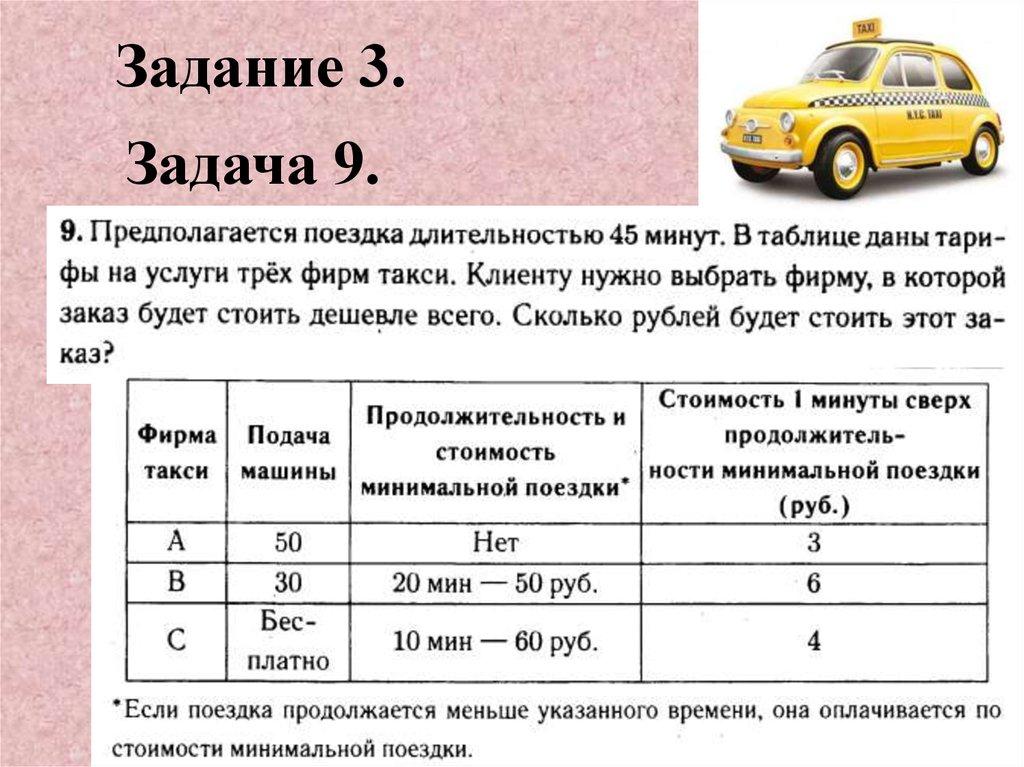 Задачи про такси с решением как решить задачу в соревнованиях по прыжкам