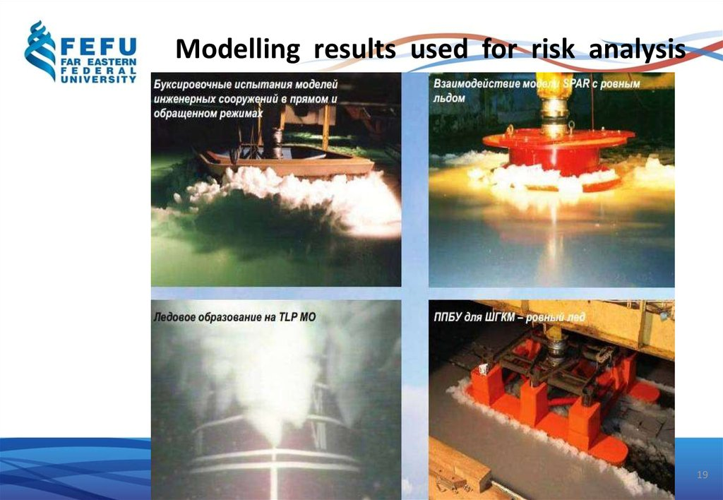 Modelling results used for risk analysis