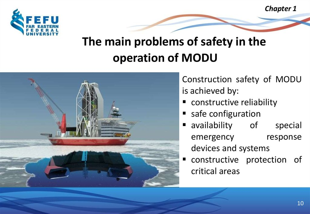The main problems of safety in the operation of MODU