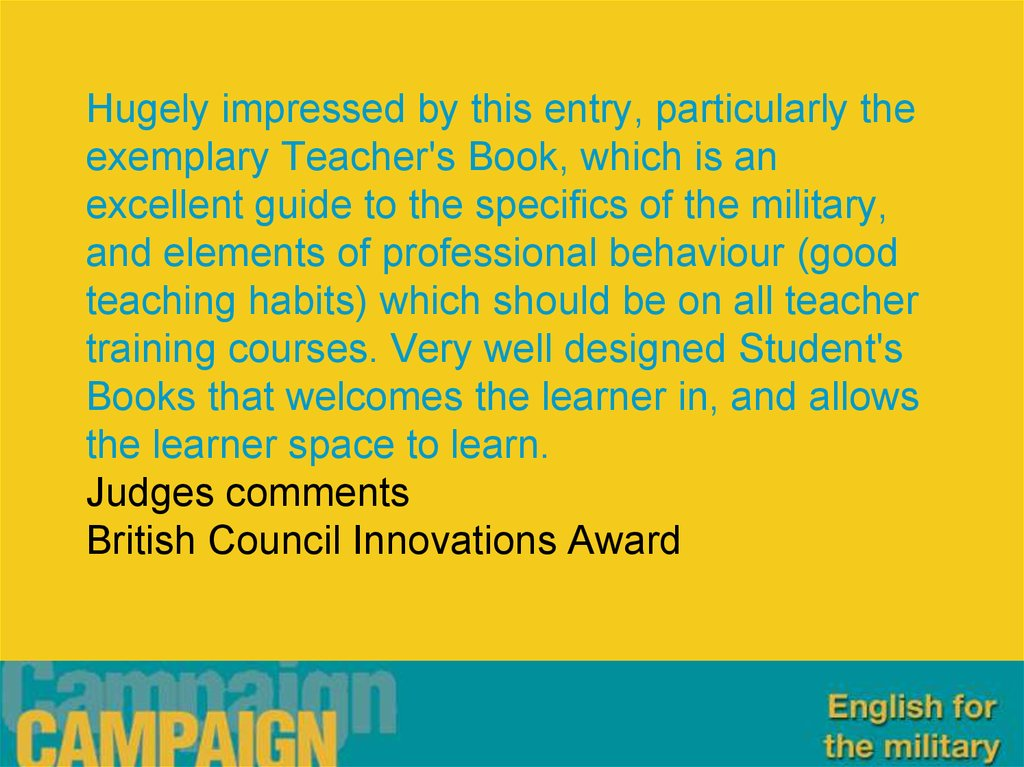 Hugely impressed by this entry, particularly the exemplary Teacher's Book, which is an excellent guide to the specifics of the
