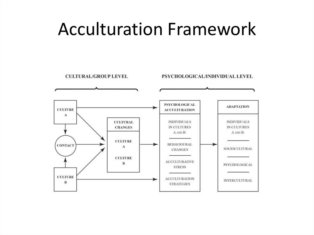 precise acculturation This article discusses the importance of clear and precise conceptualizations of acculturation as well as the need for consistencies.