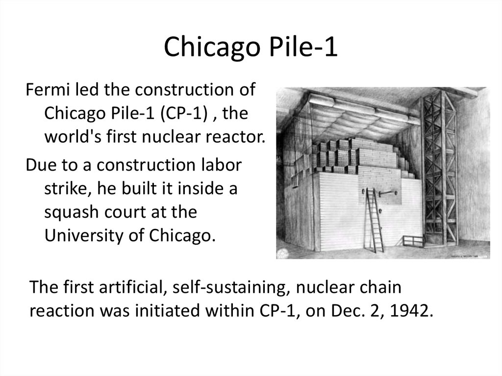 Image result for a self-sustaining nuclear reaction demonstrated in 1942