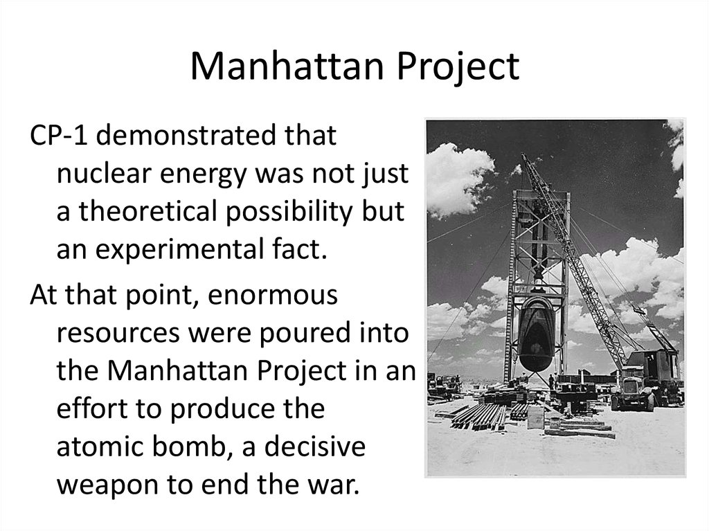 manhattan project summary How can the answer be improved.