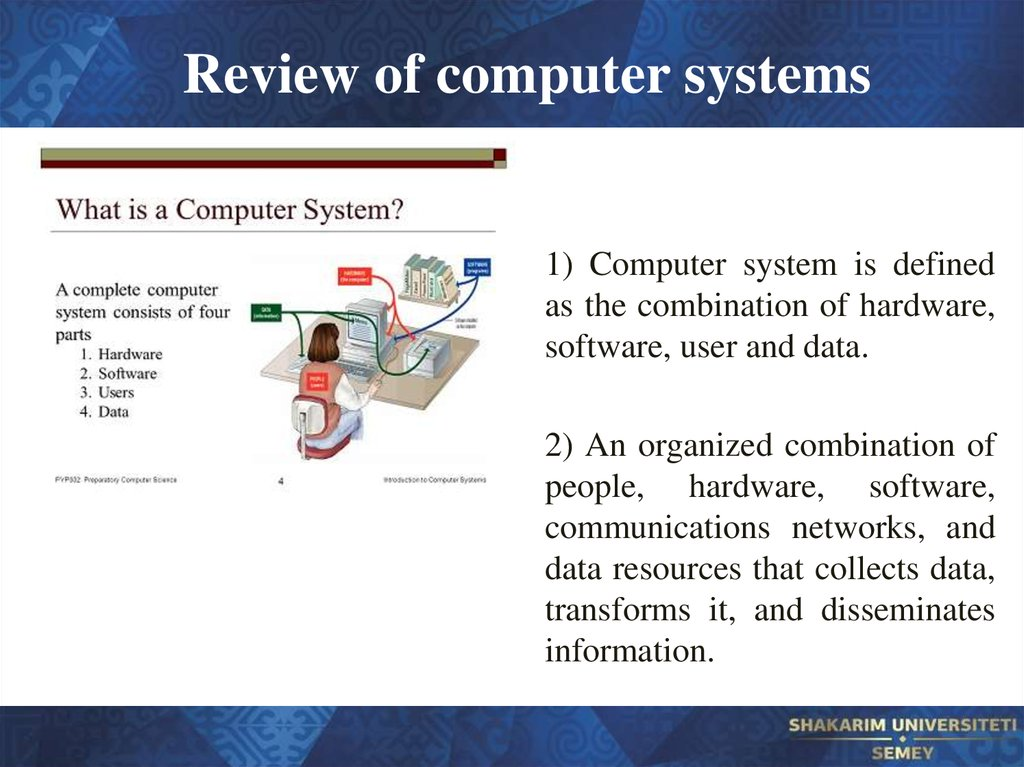 Review of computer systems