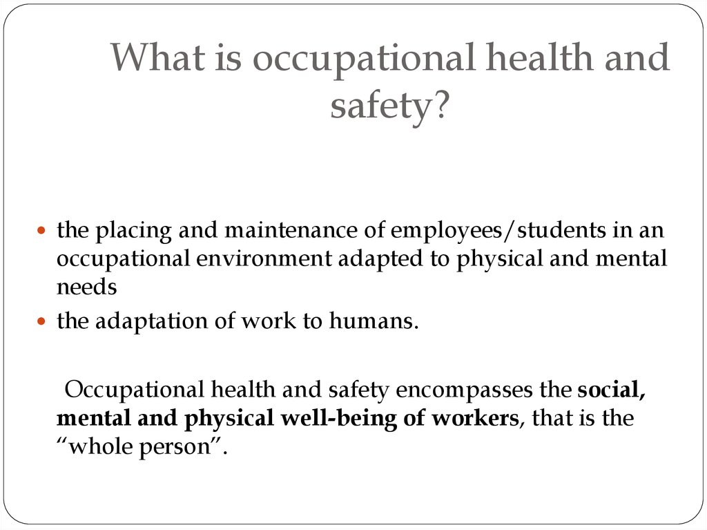mhe 510 occupational health and safety The other agency that is responsible for asbestos regulation is osha or the occupational mhe 510 the physician with a copy of the occupational safety and health.
