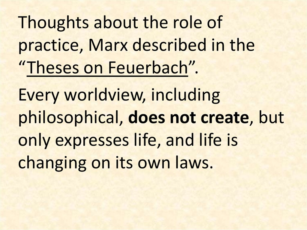 thesis on feurbach From the classics: theses on feuerbach the last thesis is the most famous i the chief defect of all hitherto existing materialism – that of feuerbach included.