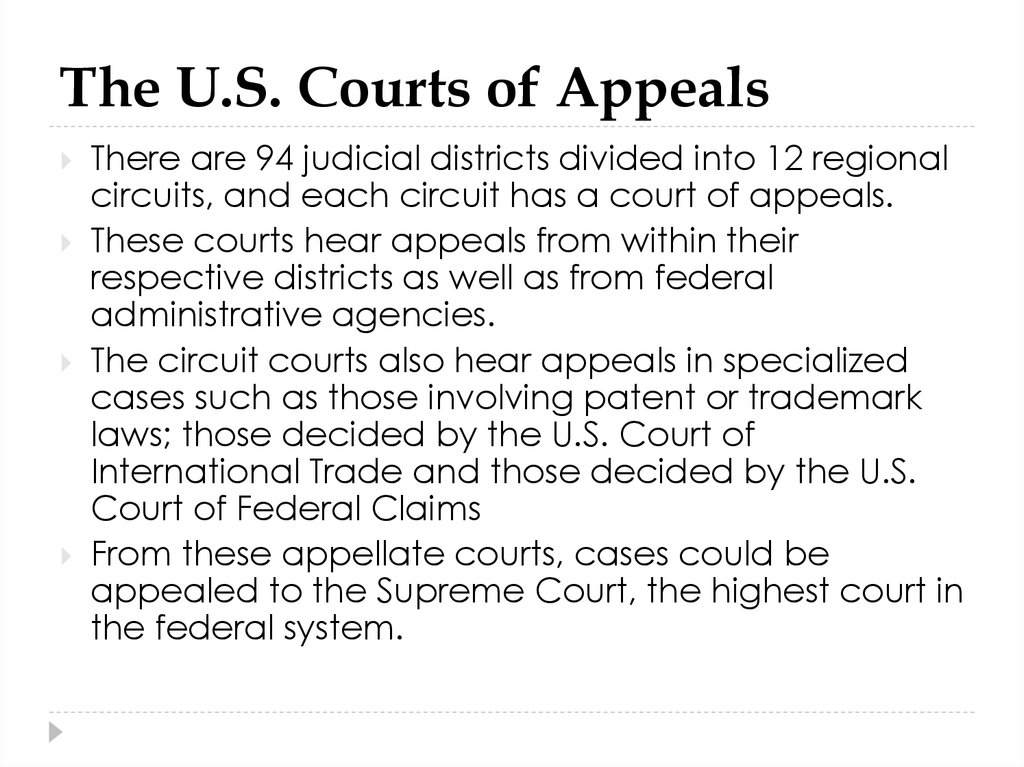 The U.S. Courts of Appeals