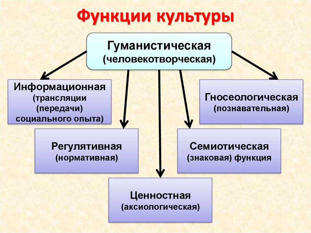 Картинка функции культуры