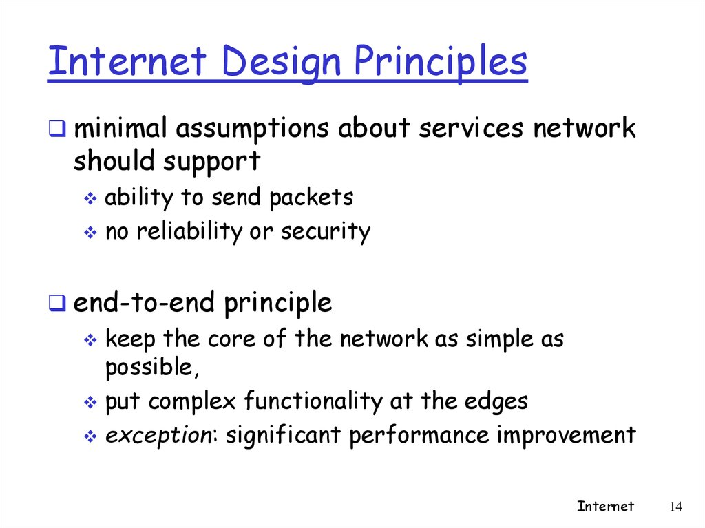 Internet Design Principles