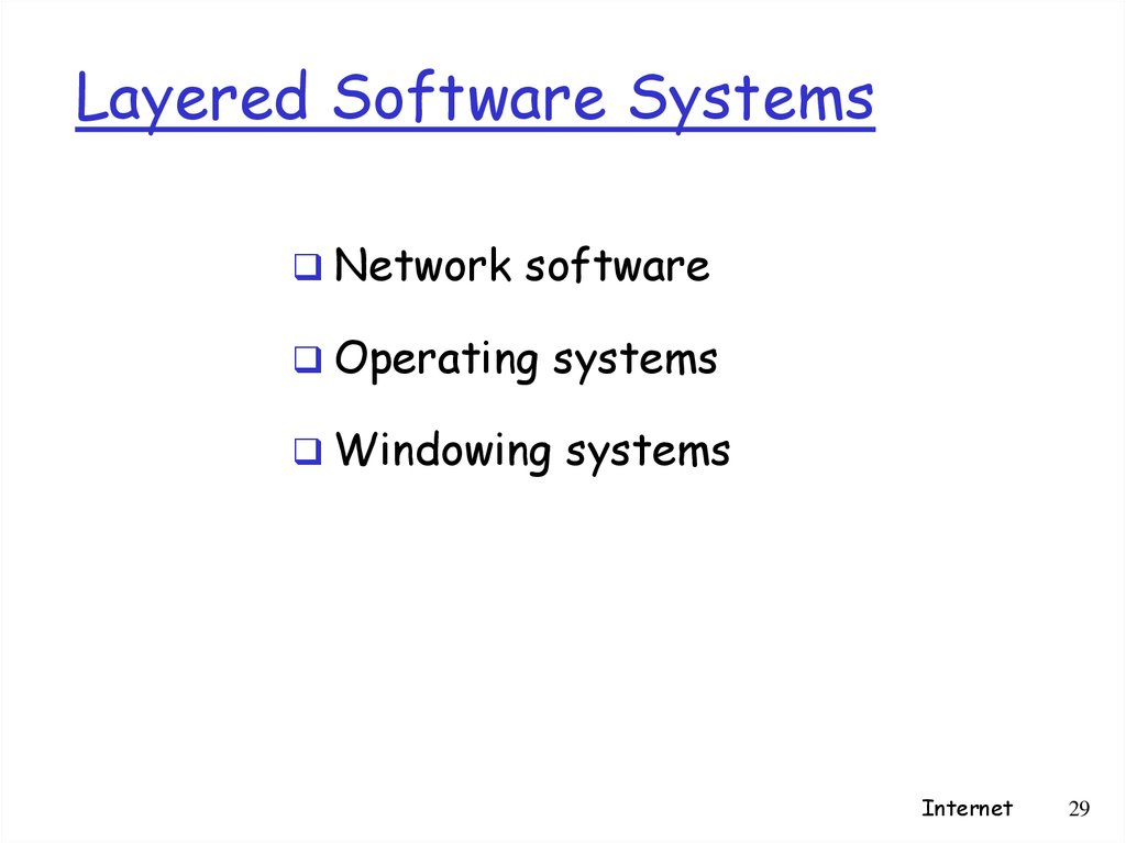 Layered Software Systems