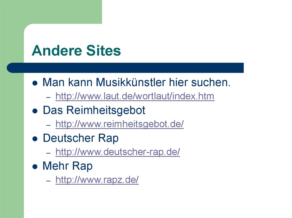 Andere Sites