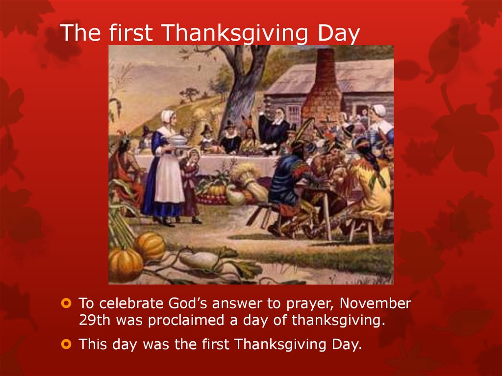 Thanksgiving. A time to be thankful - online presentation