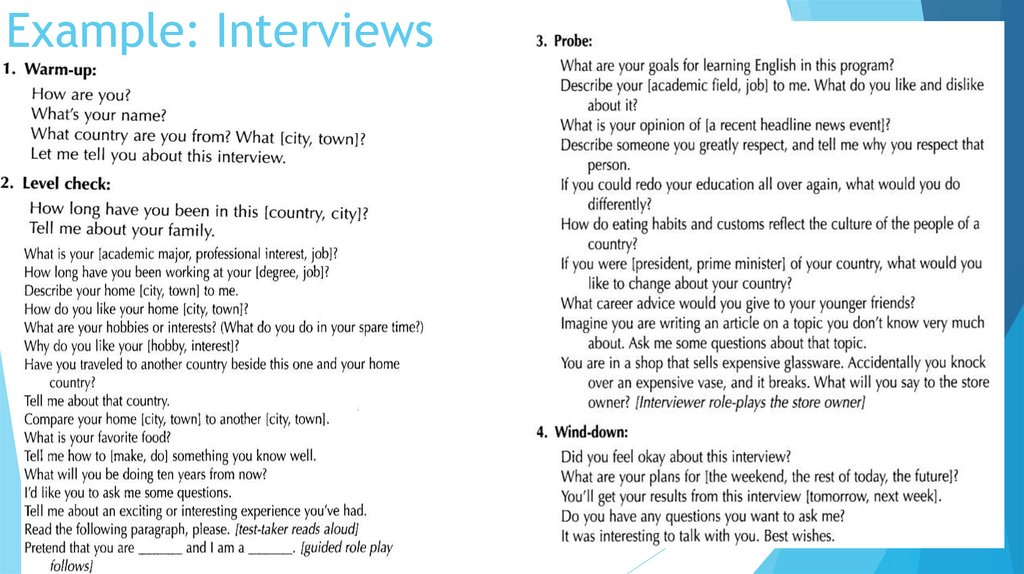 Example: Interviews